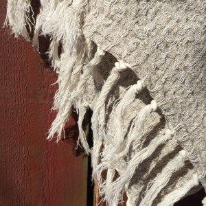 Rustikke handkle i lin, frynser